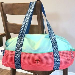 Ivivva Pink & Green Duffel Bag